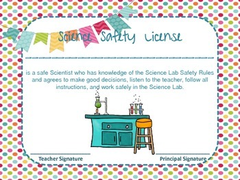 Science Safety License Certificate for Students