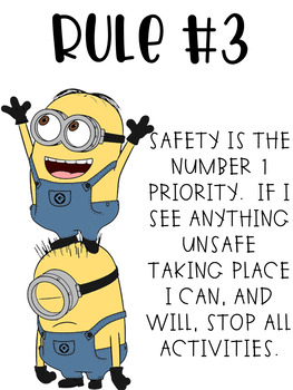 Science Safety Minion Style