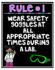 Science Safety Posters: Blue & Purple