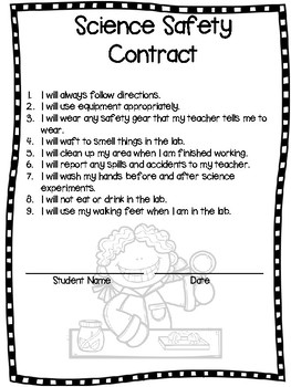 Science Safety Posters w/ Safety Contract