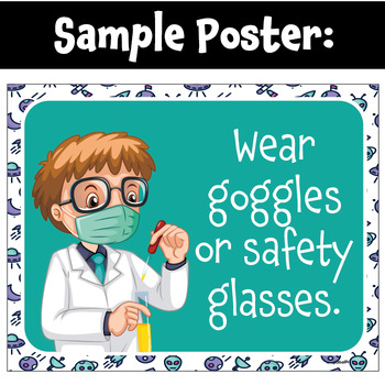 Science Safety Rules Posters