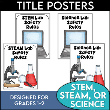Science Safety Rules Posters for 1st and 2nd Grades