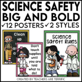 Science Safety Rules Posters in Big and Bold Colors