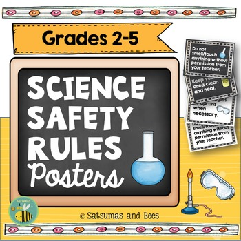 Science Safety Rules Posters-Back to School