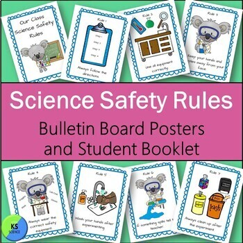 Science Safety Rules in the Elementary Classroom:  Booklet and Bulletin Board