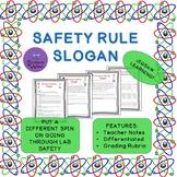 Lab Safety Slogan