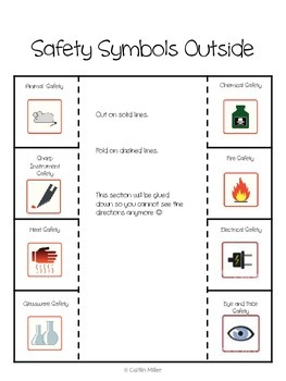 Science Safety Symbols Foldable Freebie