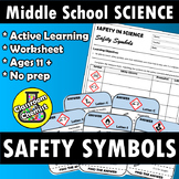 Science Safety Symbols - Treasure hunt