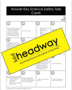 Science Safety Task Cards