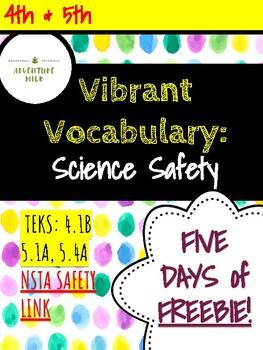 Science Safety Vocab Freebie
