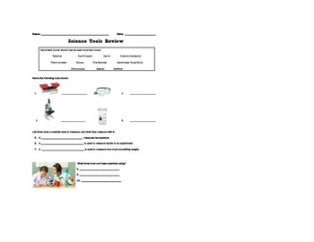 Science Safety and Tools Powerpoint, Bingo and Quiz