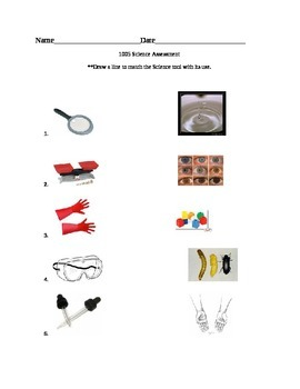 Science Safety tools test