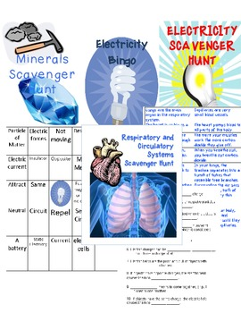 Science Scavenger Hunt + Bingo Pack