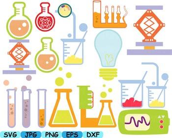Science School Clip art svg math atom book experiment lesson biology lab -104s