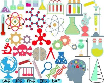 Science School Clip art svg math atom book experiment lesson biology lab -149s