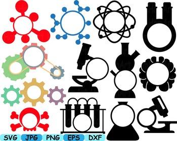 Science School Clip art svg math atom book experiment lesson biology lab -242s