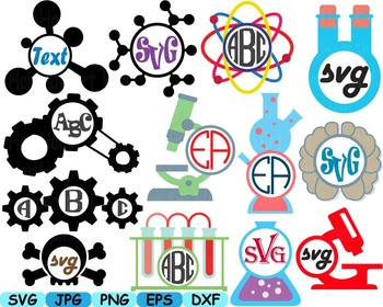 Science School Clip art svg math atom book experiment less