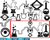 Science School Clip art svg math atom book experiment lesson biology lab -347s