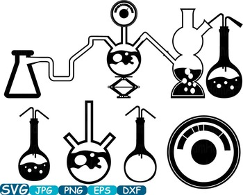 Science School Clip art svg math atom book experiment lesson biology lab -347s