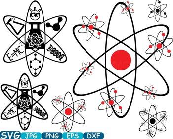 Science School Clip art svg math atom book experiment lesson biology lab -353s