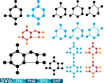 Science School Molecules atom molecule SVG DNA RNA structure genetics genes 350s