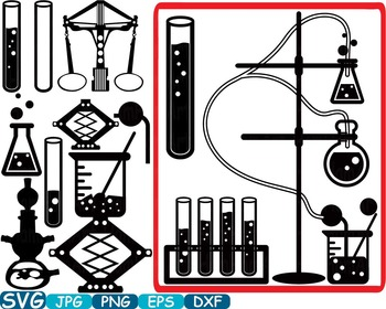 Science School SVG clipart Silhouette math education scientific Vinyl  -348s