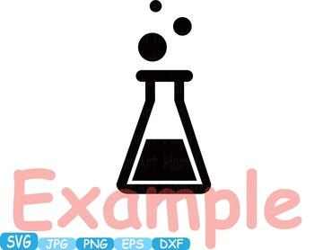 Science School SVG clipart scientist chemistry shape outline lesson math -270s