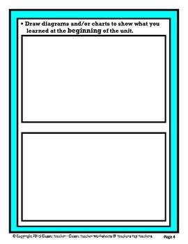Science Unit Summary-Template-Grades 4-9/4th Grade to 9th Grade-Advanced