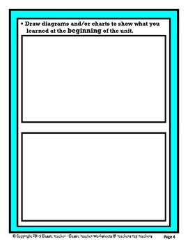 Science Unit Summary - Template - Grades 4-9 (4th Grade - 9th Grade) - Advanced