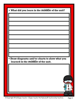 Science Unit Summary-Template-Grade 3/3rd Grade Grade 4/4th Grade-Intermediate