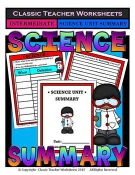 Science Unit Summary-Template-Grade 3/3rd Grade Grade 4/4t