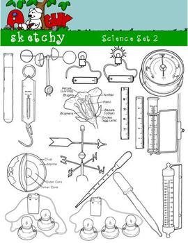 Science / Scientific Clipart Bundle Set