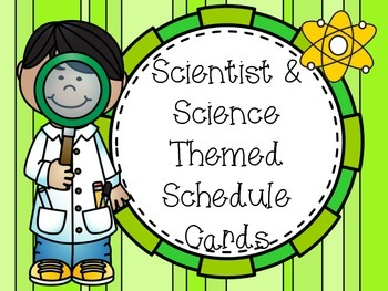Science Schedule Cards With Clocks