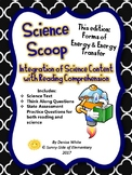 Science Scoop: Forms of Energy and Energy Tranformations