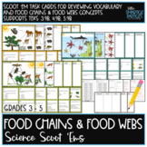 Food Chains & Food Webs Task Cards: Science Scoot 'ems