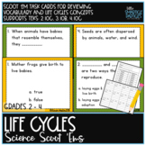 Life Cycles Task Cards: Science Scoot 'ems