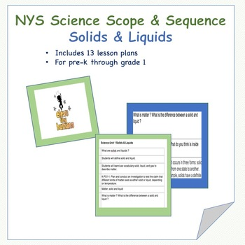 Science Scope and Sequence Unit 1