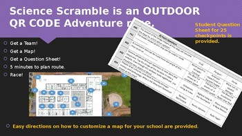 Science Scramble: An OUTDOOR QR Code Adventure Race: Systems/Inquiry/Application