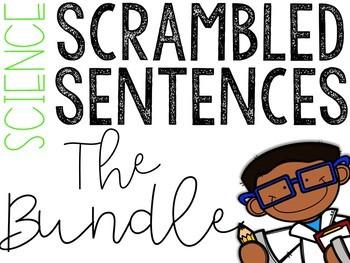 Science Scrambled Sentences Bundle