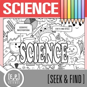 Science Seek and Find Science Doodle Page