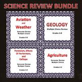 Digital Science Semester Review Game Bundle 6, 7, 8, Editable