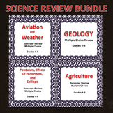 Digital Science Semester Review Game Bundle 6, 7, 8, Editable