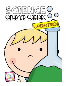 Science Sentence Starters by Frogs and Cupcakes | Teachers Pay ...