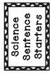 Science Sentence Starters