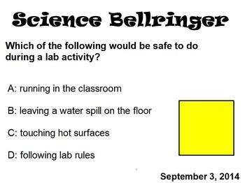 Science September Bell Ringers