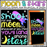 Shoot for the Moon Growth Mindset Bulletin Board, Door Decor, or Poster