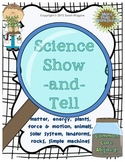 Science Show-and-Tell (ELA and Science!)