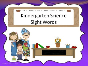 Science Sight Words
