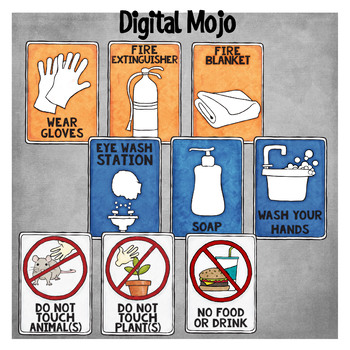 Science Signs Safety Clipart