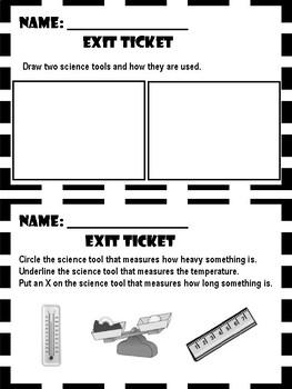 Science Skills - Exit Ticket
